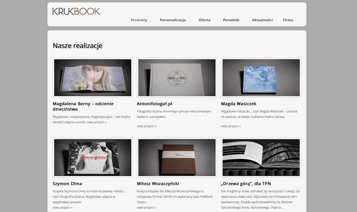 Fotoksiążki fotograficzne - KrukBook - polecani dostawcy fotografa