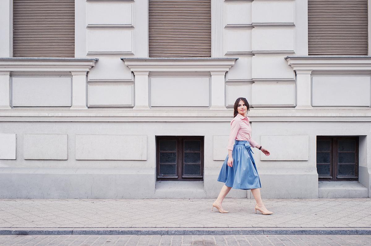 Sesja modowa - obróbka Lightroom i Color Efex Pro - spódnice i sukienki z naturalnych materiałów Marie Zélie